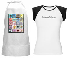 printed apron and logo tee shirt